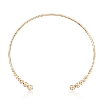 "Italian 18kt Gold Over Sterling Open Choker Necklace. 16"", , default"