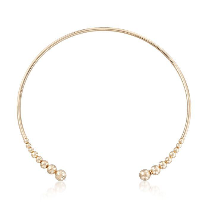 "Italian 18kt Gold Over Sterling Open Choker Necklace. 16"", , default"