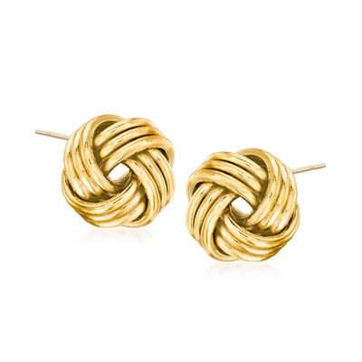 14kt Yellow Gold Love Knot Earrings