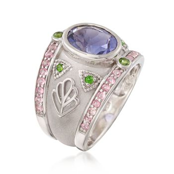 2.95 ct. t.w. Multi-Stone Patterned Ring in Sterling Silver. Size 5, , default