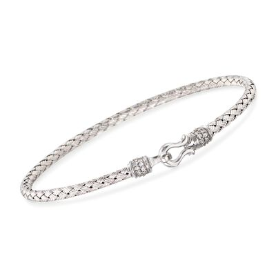 "Charles Garnier ""Harpo"" .20 ct. t.w. CZ Bangle Bracelet in Sterling Silver"