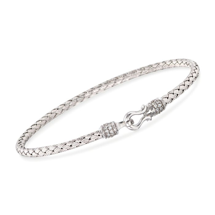 "Charles Garnier ""Harpo"" .20 ct. t.w. CZ Bangle Bracelet in Sterling Silver. 7"", , default"