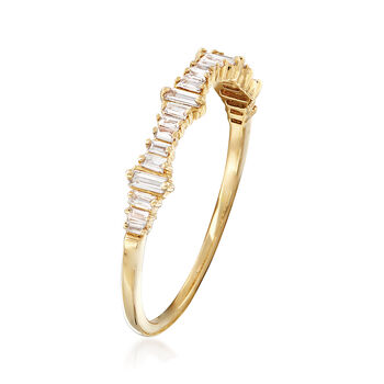 .20 ct. t.w. Baguette Diamond Ring in 14kt Yellow Gold