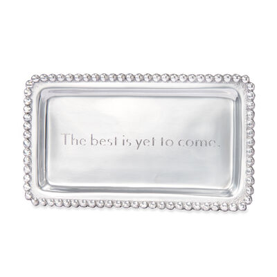 "Mariposa ""The Best is yet to Come"" Beaded Tray, , default"