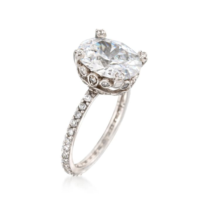 5.95 ct. t.w. CZ Ring in Sterling Silver