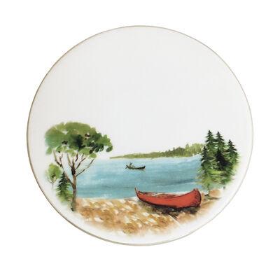 Abbiamo Tutto Italian a Day at the Lake Ceramic Trivet/Cheeseboard, , default