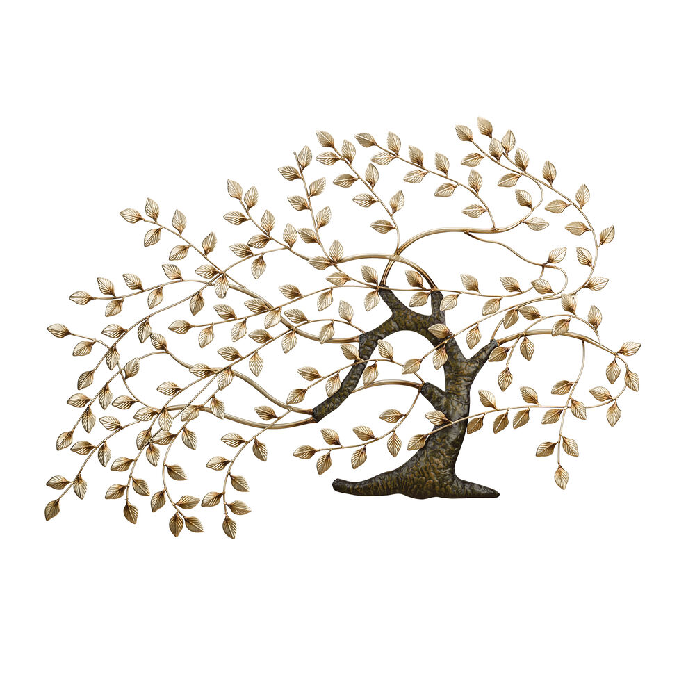 Metal Windswept Tree Of Life Wall Decor