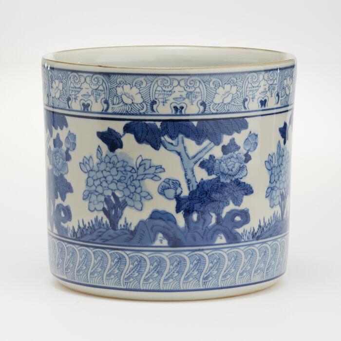 Blue and White Porcelain Garden Planter Vase, , default