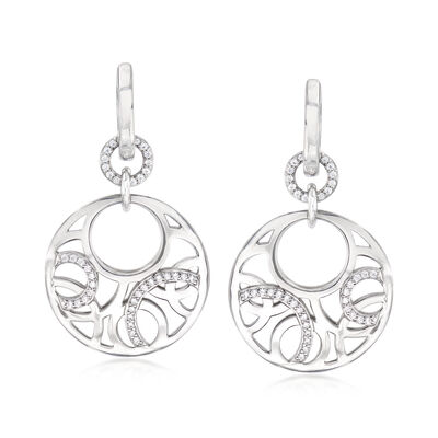 "Belle Etoile ""Celestia"" .44 ct. t.w. CZ Drop Earrings in Sterling Silver"