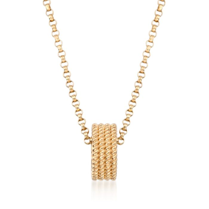 """Roberto Coin """"Symphony"""" 18kt Yellow Gold Rondelle Pendant Necklace"""