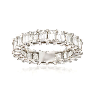 4.10 ct. t.w. Emerald-Cut Diamond Eternity Band in Platinum, , default