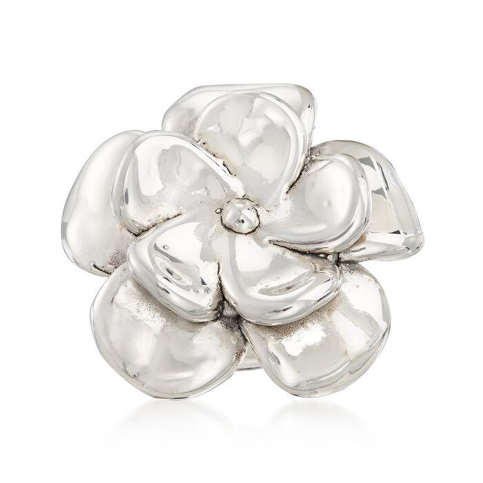 Sterling Silver Floral Ring, , default
