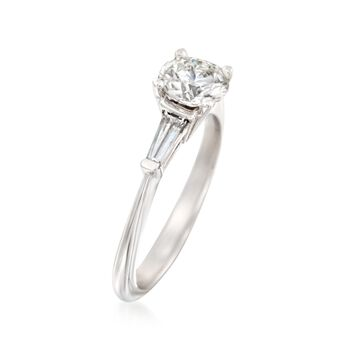 1.36 ct. t.w. Certified Diamond Engagement Ring in 14kt White Gold
