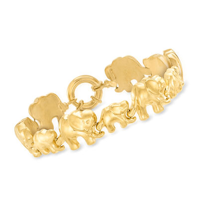 Italian 18kt Gold Over Sterling Elephant Bracelet