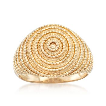 14kt Yellow Gold Concentric Circle Ring, , default