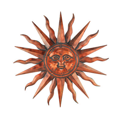 Regal Copper Patina Sun Metal Outdoor Wall Decor, , default