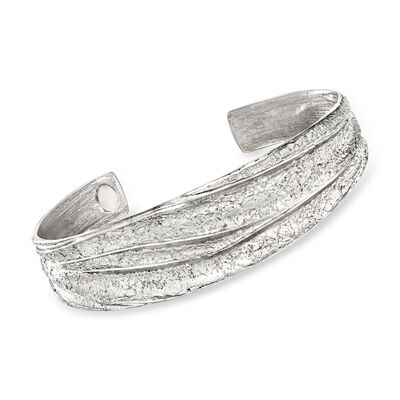"Charles Garnier ""Constellation"" Sterling Silver Pleated Cuff Bracelet, , default"