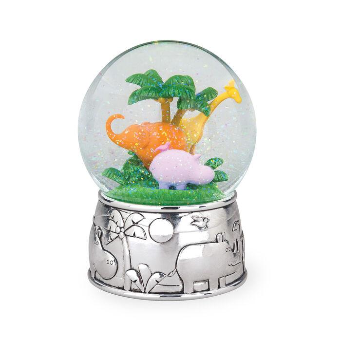 "Reed & Barton ""Jungle Parade"" Silver Plate Jungle Parade Water Globe, , default"