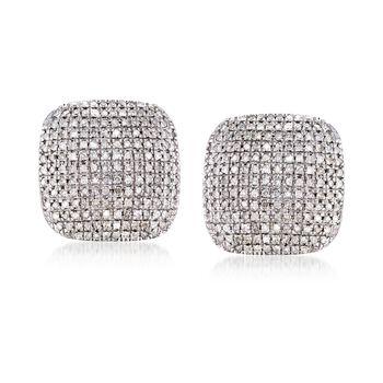 1.00 ct. t.w. Diamond Square Earrings in Sterling Silver, , default