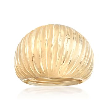 14kt Yellow Gold Dome Ring, , default