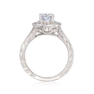 Gabriel Designs .57 ct. t.w. Diamond Engagement Ring Setting in 14kt White Gold #873459