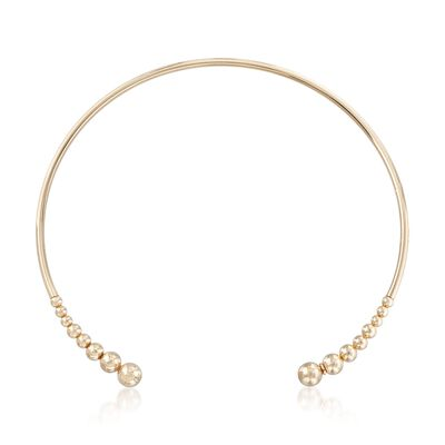 Italian 18kt Gold Over Sterling Open Choker Necklace, , default