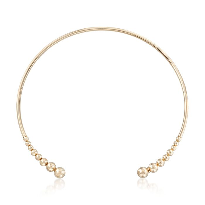 """Italian 18kt Gold Over Sterling Open Choker Necklace. 16"""""""