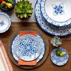 """Talavera"" Azul Melamine Dinnerware, , default"