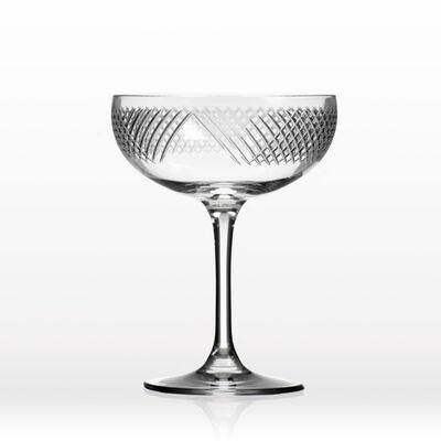 "Rolf Glass ""Bourbon Street"" Set of 4 Coupe Champagne Saucer Glasses, , default"