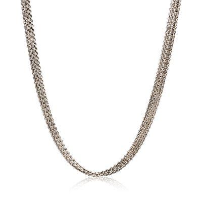 C. 1990 Vintage 14kt White Gold Five-Strand Cable Chain Necklace, , default