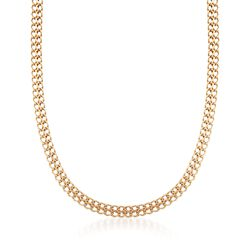 "Italian 18kt Yellow Gold Infinity-Link Necklace. 18"", , default"