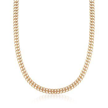 "Italian 18kt Yellow Gold Infinity-Link Necklace. 18"", , default"