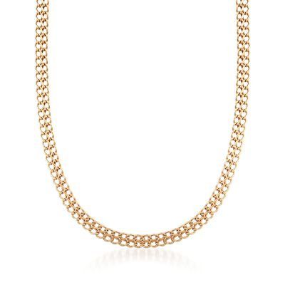 Italian 18kt Yellow Gold Infinity-Link Necklace, , default