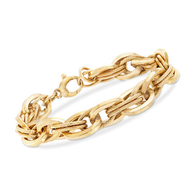 C. 2000 Vintage 14kt Yellow Gold Multi-Oval Link Bracelet , , default