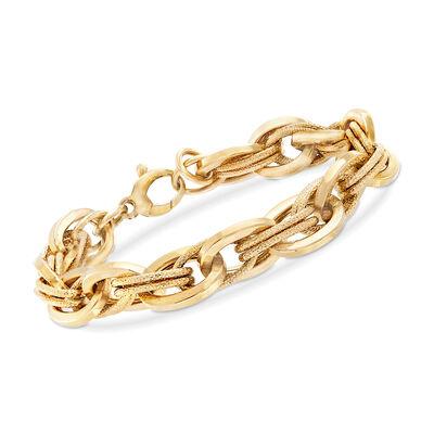 C. 2000 Vintage 14kt Yellow Gold Multi-Oval Link Bracelet , , default