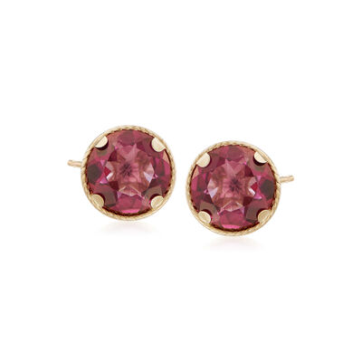 2.20 ct. t.w. Mystic Berry Quartz Stud Earrings in 14kt Yellow Gold, , default