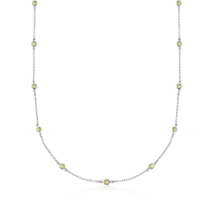 1.80 ct. t.w. Peridot Station Necklace in Sterling Silver