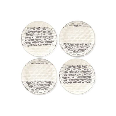 "Michael Wainwright ""Truro"" 4-pc. Stoneware Canape Plate Set with Platinum, , default"