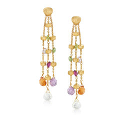 C. 2000 Vintage Marco Bicego 4.50 ct. t.w. Multi-Stone Drop Earrings in 18kt Yellow Gold, , default
