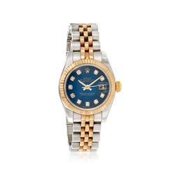C. 2005 Vintage Rolex Datejust Women's 26mm Automatic Stainless and 18kt Gold Watch With Diamonds, , default