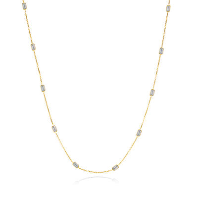 2.50 ct. t.w. Diamond Station Necklace in 14kt Yellow Gold, , default