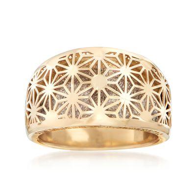 Italian 14kt Two-Tone Gold Starburst Ring, , default