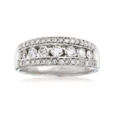 C. 1990 Vintage .85 ct. t.w. Diamond Ring in 14kt White Gold, , default