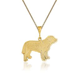 14kt Yellow Gold Labrador Pendant Necklace, , default