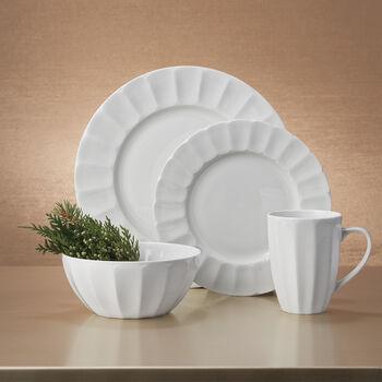"""Mikasa """"Bonaire"""" White Bone China Dinnerware, , default"""