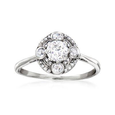 C. 1930 Vintage .71 ct. t.w. Diamond Ring in Platinum