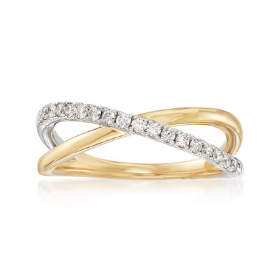 .24 ct. t.w. Diamond Crossover Ring in 14kt Two-Tone Gold, , default