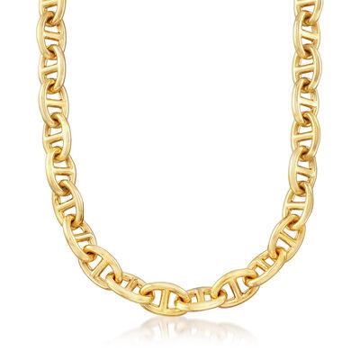 Italian Andiamo 14kt Yellow Gold Marine-Link Necklace, , default