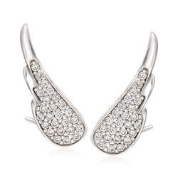 .50 ct. t.w. CZ Wing Ear Crawlers in Sterling Silver , , default