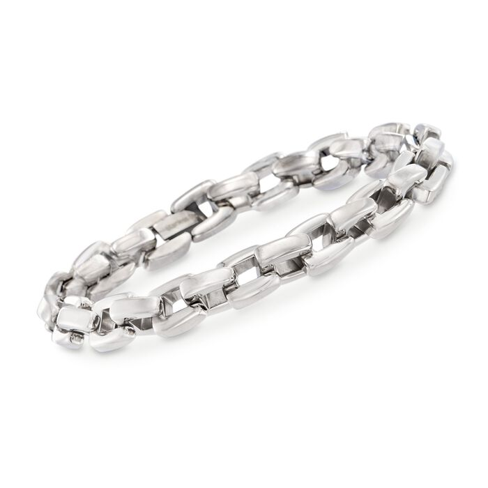 Men's Stainless Steel Link Bracelet. 8.5""